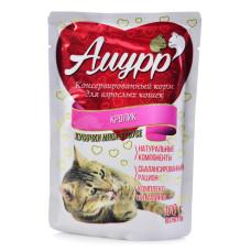 Амурр Корм консерв. для кошек Кролик в соусе, 100 г