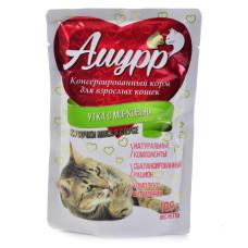 Амурр Корм консерв. для кошек Утка с морковью в соусе, 100 г