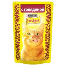 Фрискис Корм для кошек с говядиной 85 г