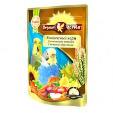 Верные друзья Корм для волнистых попугаев с овощами и фруктами, 500 г