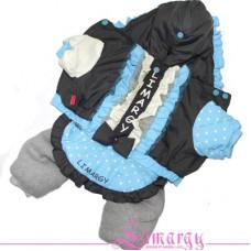 11385 Lim010580  Лимарджи Комплект Rusha, серо-голубой, мех искусств., девочка, размер XS