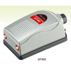 Силонг Компрессор AP-002 двухканальный 5 Вт, 2*2.5 л/м, с регулятором