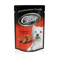Цезарь Корм для собак консервированный Говядина с овощами 100 г
