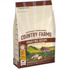 Country Farms Сухой беззерновой корм для взрослых собак с высоким содержанием Курицы, 2,5 кг