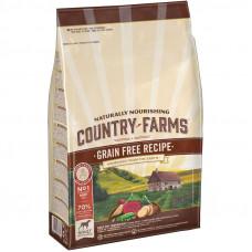 Country Farms Сухой беззерновой корм для взрослых собак с высоким содержанием Говядины, 2,5 кг