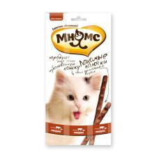 Мнямс Pro Pet лакомые палочки для кошек с говядиной и печенью 13,5 см