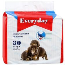 EVERYDAY Пеленки впитывающие ГЕЛЕВЫЕ для животных, 60*45 см