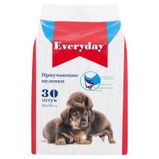 EVERYDAY Пеленки впитывающие ГЕЛЕВЫЕ для животных, 60*90 см