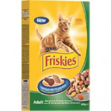 Фрискис Корм для взрослых кошек с кроликом и овощами, 400 г