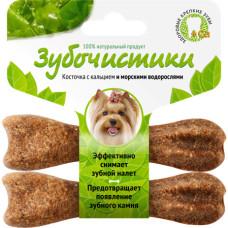 Зубочистики Косточка для собак мелких пород с кальцием и морскими водорослями 2шт *18 г