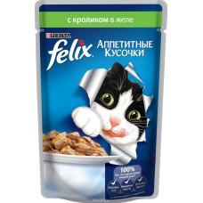 FELIX  Корм для кошек Аппетитные кусочки с кроликом в желе 85 г