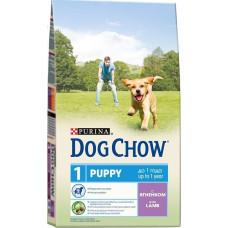 Дог Чау Корм сухой для щенков до 1 года с ягненком 2.5 кг