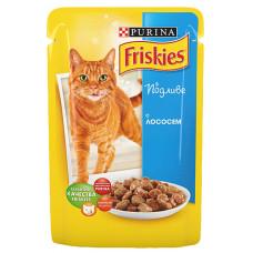Фрискис Корм для кошек с лососем в подливе 100 г