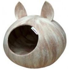 90957 WoolPetHouse Домик слипер с ушками, молочный шоколад, для мелких пород,40*40*20 см