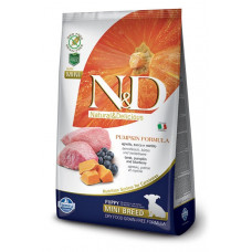 FARMINA N&D Корм низкозерн для щенков мелких пород, беремен.и кормящих, с ягненком и черникой, 800 г