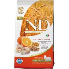75390 FARMINA Корм зерновой для собак мелких пород, с треской, спельтой, овсом и апельсином, 800 г
