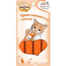 Мнямс Крем-лакомство для кошек с курицей 15 г *  4 шт