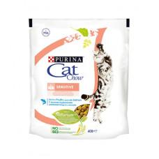 Кэт Чау Корм для кошек с чувствительным пищеварением с птицей и лососем 400 г