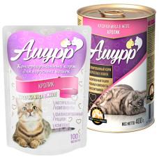 Амурр Корм консерв. для кошек Кролик в желе, ж/б 400 г