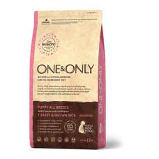 ONE&ONLY DOG Turkey & Rice Puppy All Breeds Корм для щенков всех пород, Индейка с бурым рисом, 1 кг