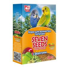 7 семян Корм для волнистых попугаев с фруктами 500 г