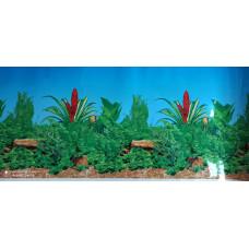 HL-BFP16 Фон пресноводный с растениями голубой (высота 41 см) 1 м