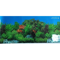 HL-BHWG12 Фон пресноводный с растениями голубой (высота 30 см) 1 м