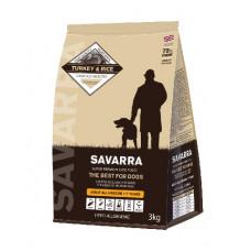 SAVARRA Корм сухой для взрослых собак с Индейкой и рисом, 1 кг