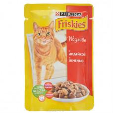 Фрискис Корм для кошек с индейкой и печенью в подливе 100 г
