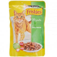 Фрискис Корм для кошек с кроликом в подливе 100 г