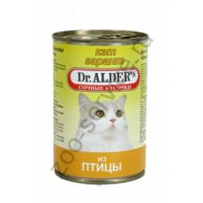 Др Алдерс Кэт Гарант Корм д/кошек Сочные кусочки в соусе с Курицей, 415 г
