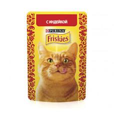 Фрискис Корм для кошек с индейкой 85 г