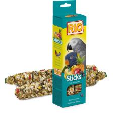 РИО - Палочки для попугаев с фруктами и ягодами, коробка 2*75 г