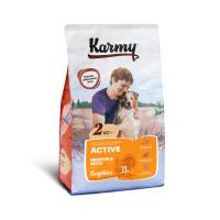 Karmy Актив Медиум и Макси Корм сухой для собак с повышенной физической активностью с Индейкой, 2 кг