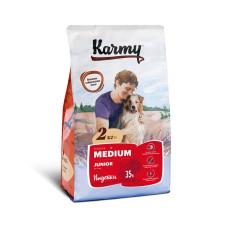 Karmy Медиум Юниор Корм сухой для щенков средних пород с Индейкой, 2 кг