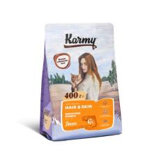 Karmy Корм Хэйр энд Скин, для здоровья кожи и шерсти кошек, с Лососем, 400 г