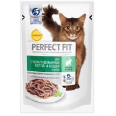Перфект Фит для стерилизованных кошек с кроликом в соусе, 85 г