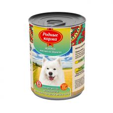 Родные корма Корм конс. для собак Жареха мясная по-Двински, 970 г