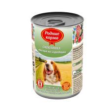 Родные корма Корм конс. для собак Скоблянка мясная по-Городецки, 970 г
