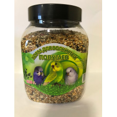 7 семян Корм для волнистых попугаев, банка 650 г