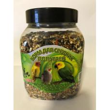 7 семян Корм для средних попугаев, банка 650 г