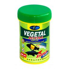 Биодизайн ВЕГЕТАЛ - хлопья (flake), универсальный корм для растительноядных рыб (банка) 200 мл/37 г