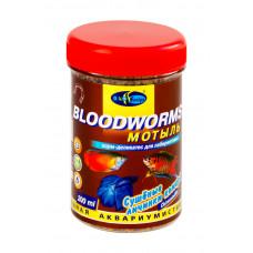 Биодизайн МОТЫЛЬ - сушеные личинки комара для всех видов рыб (банка) 200 мл/16 г