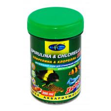Биодизайн СПИРУЛИНА & ХЛОРЕЛЛА 25% - хлопья (flake), растительные 200 мл/37 г