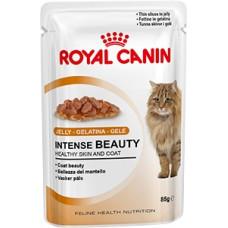 Роял Канин Интенс Бьюти в желе влажный корм для поддержания красоты  шерсти кошек 85 г