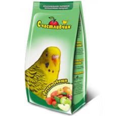 Счастливчик - корм для волнистых попугаев фрукты + овощи 350 г