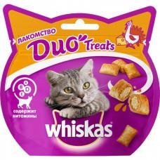 Лакомство DUO Treats для взрослых кошек с индейкой и сыром, 40 г