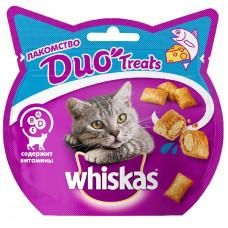 Лакомство DUO Treats для взрослых кошек с лососем и сыром, 40 г