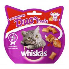 Лакомство DUO Treats для взрослых кошек с говядиной и сыром, 40 г