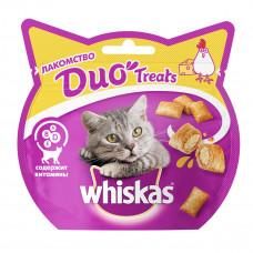 Лакомство DUO Treats для взрослых кошек с курицей и сыром, 40 г
